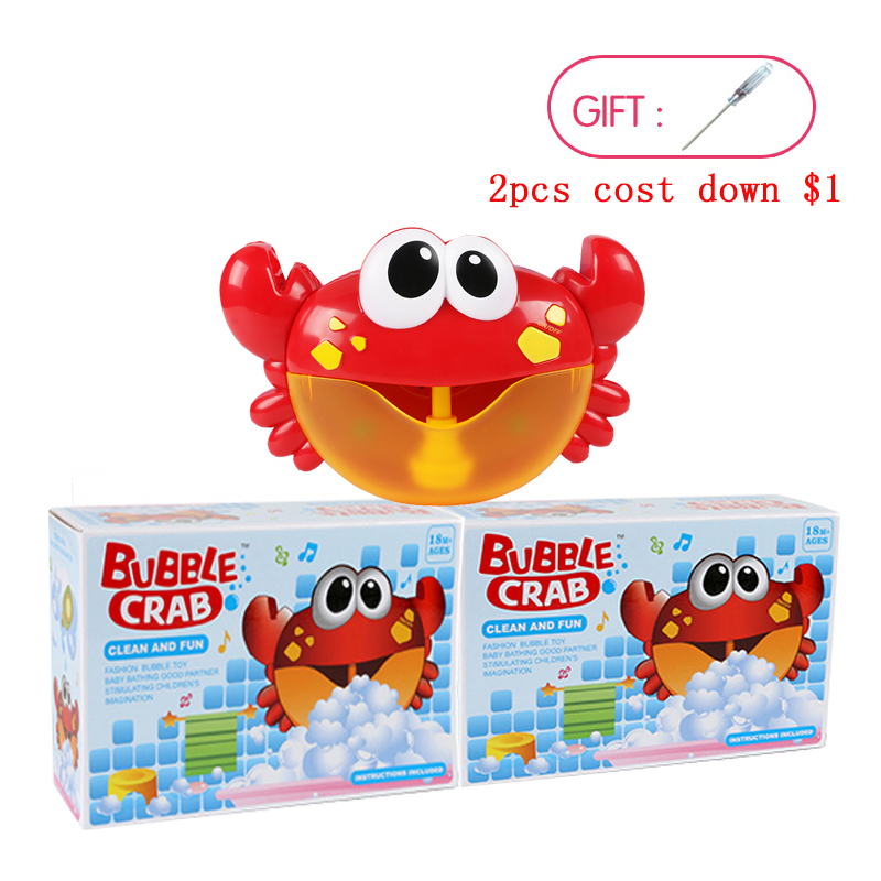 Dropship New Bubble Crabs Bath Toy for Children with Sucker Make ...
