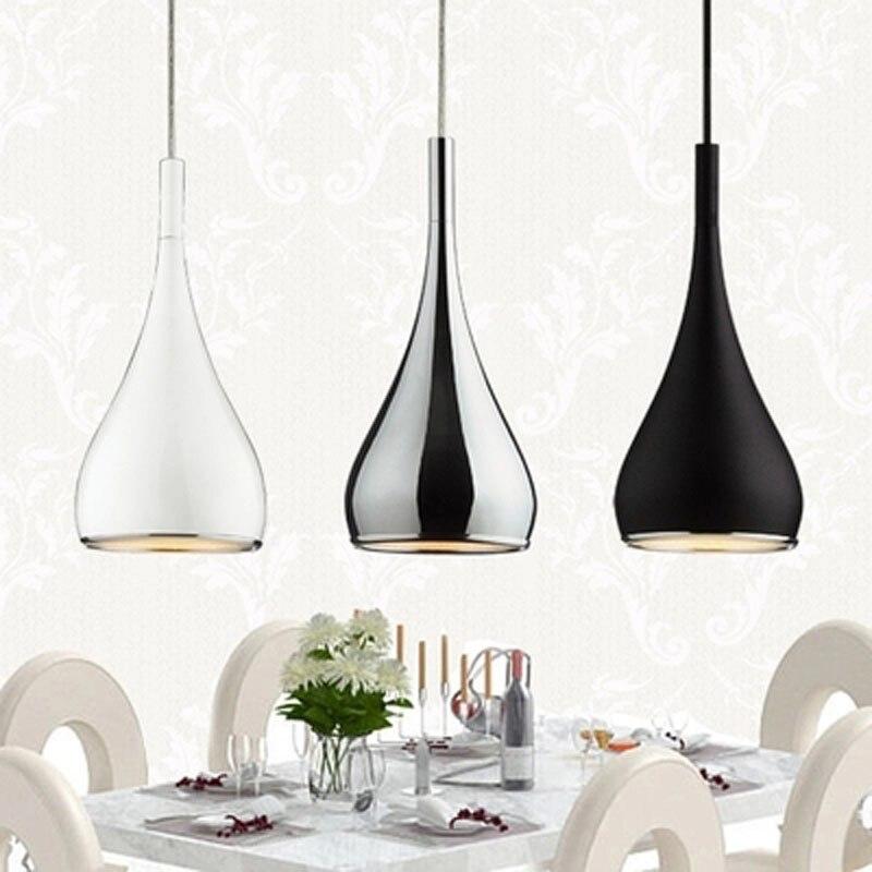 Free ship American Style Pendant Lamp Dia16cm*H120cm Kitchen Pendant Light Aluminum/ Chrome 110-240V Three Colors Dinning Light цена