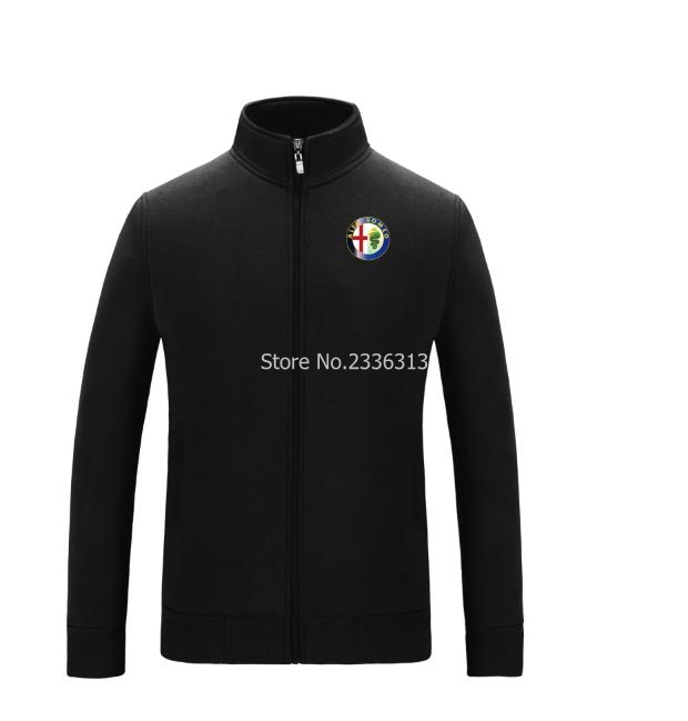 standard collar alfa romeo logo fleece sweatshirt race. Black Bedroom Furniture Sets. Home Design Ideas