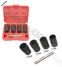 5pcs Twist Socket Set 1 2 Drive wheel lock nut remover removal