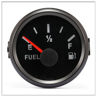 NORXI Universal 52mm Fuel Level Gauge Meter 0 190ohm For Boat Yacht Car Truck With Backlight 9 32V