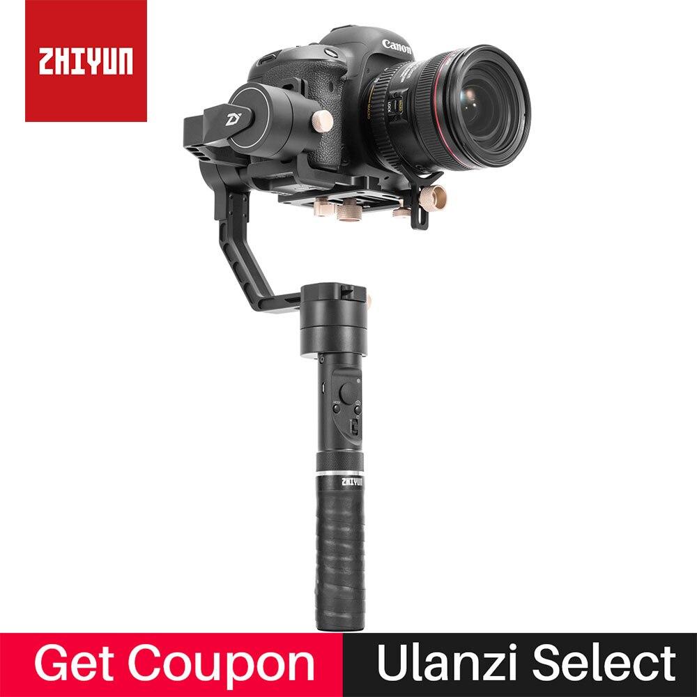 Zhiyun кран плюс 3 оси ручной карданный стабилизатор для Canon 5D3 sony A7 Nikon беззеркальных DSLR Камера Поддержка 2,5 кг POV режим