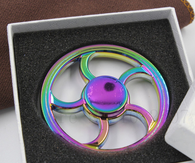BD,Round,Wheel, EDC finger Spinner,Hand Spinner Metal,Autism and ADHD Relief Focus Anxiety Stress Gift Finger,parts,Toys
