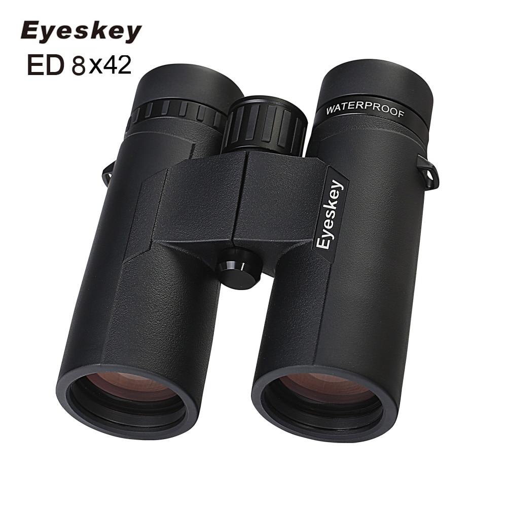 ED 8X42 Eyeskey Binoculars IPX8 Waterproof Professional Camping Hunting Telescope Zoom Bak4 Prism Optics With Binoculars Strap eyeskey hunting binoculars 8x42 binoculars waterproof telescope bak4 prism camping hunting scopes with neck strap non slip