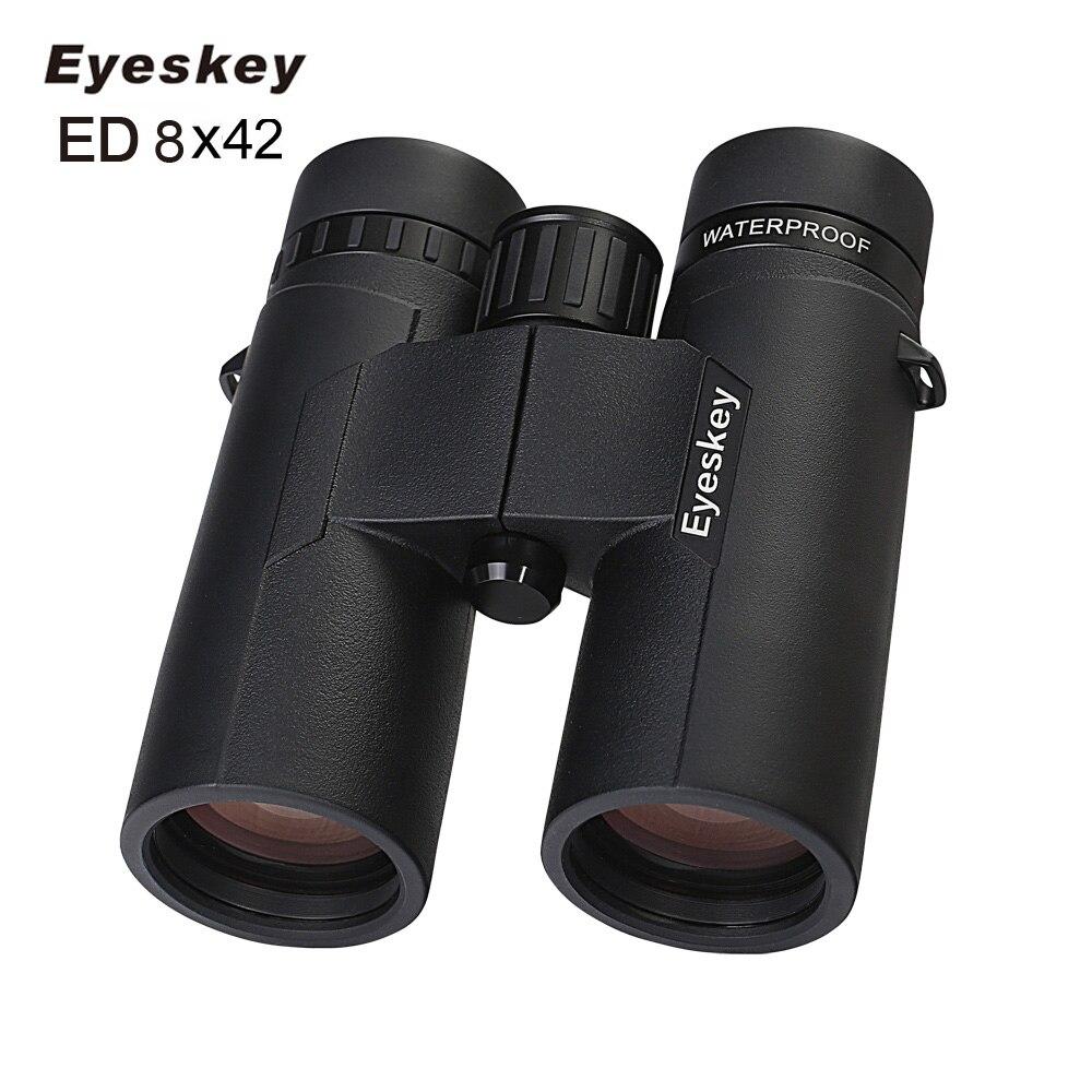 ED 8X42 jumelles de vue IPX8 étanche professionnel Camping télescope de chasse Zoom Bak4 prisme optique avec sangle de jumelles