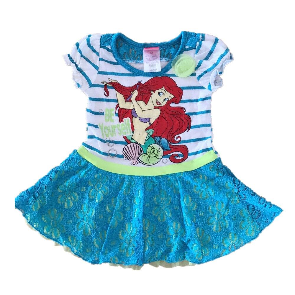 Au Détail Marque 2 6 Ans Petites Filles Robes Sirène Ariel