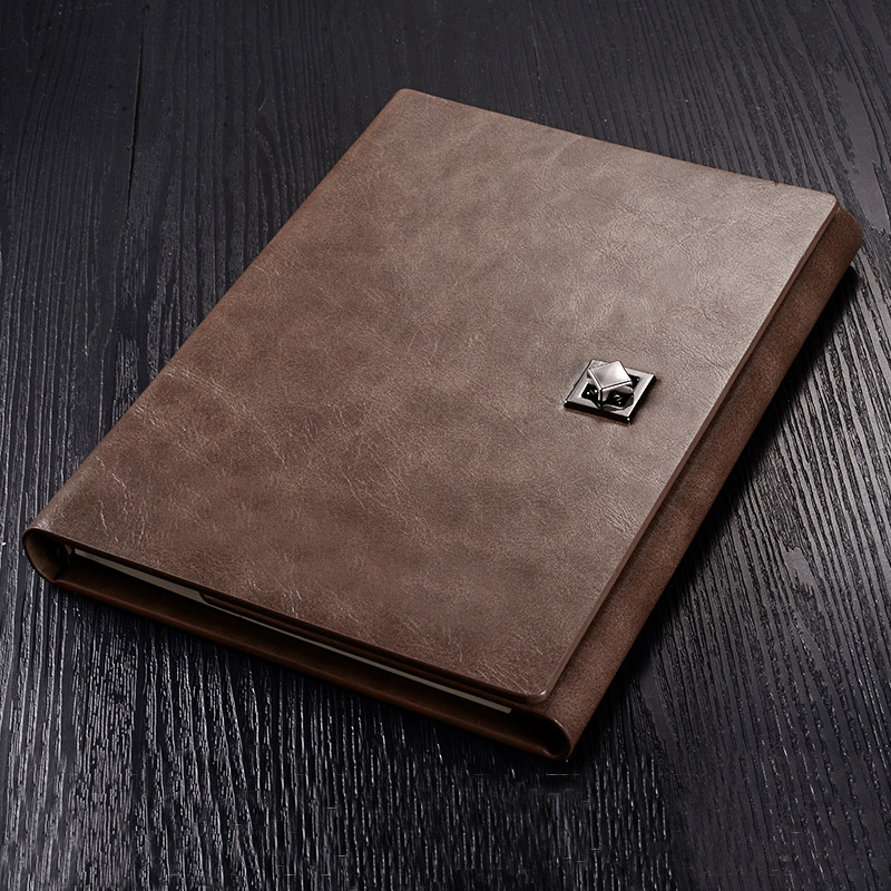 PU Leather A5 25K Notebook Hardcover Ring Binder Diary