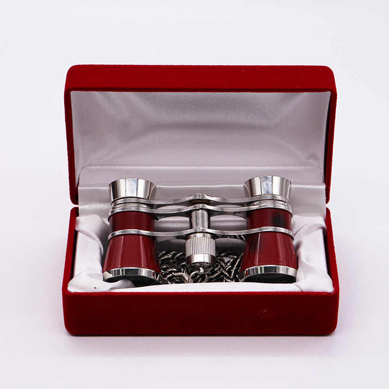 الكلاسيكية طوي 3X25 مجهر أوبرا نظارات مناظير المعادن الجسم الذهب-مطلي مقبض المسرح تلسكوب الرجعية تصميم النساء هدية