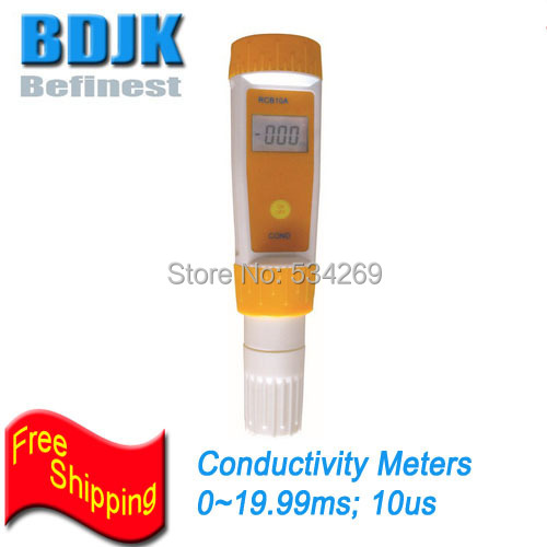 0~19.99ms Digital Conductivity Meters with Temp. Compensation & IP67 Waterproof Pocket CON Tester 0 1999us digital conductivity meters with auto temp compensation pocket con tester