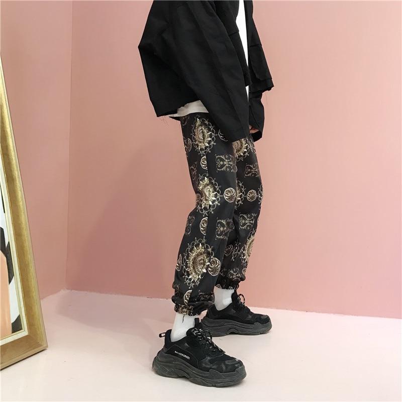 HOUZHOU Vintage Print Women Sweatpants Harem Pants Harajuku Loose Jogger Mujer Loose Streetwear Hip Hop Elastic Waist Hip Hop
