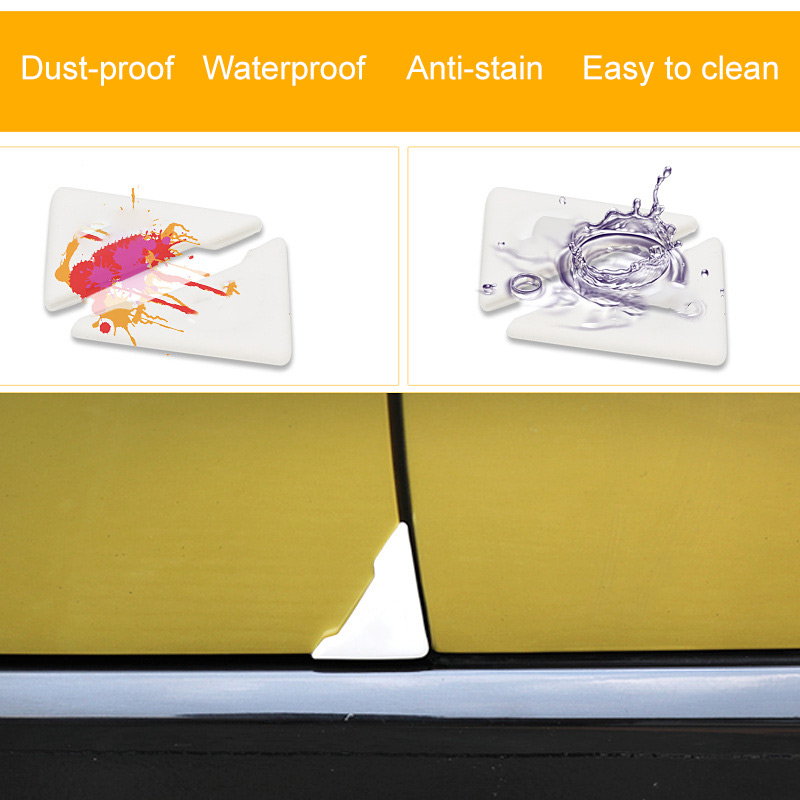 TiOODRE 2PCS Natural Silicone Protector Crash Protection Car Door Corner Cover Anti-Scratch Silicone Auto Care Car-Styling