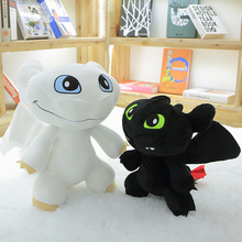 30/45/60/80cm Cartoon Anime How to Train Your Dragon Plush Toys Toothless Night Fury Soft Stuffed Doll Children Girls gifts