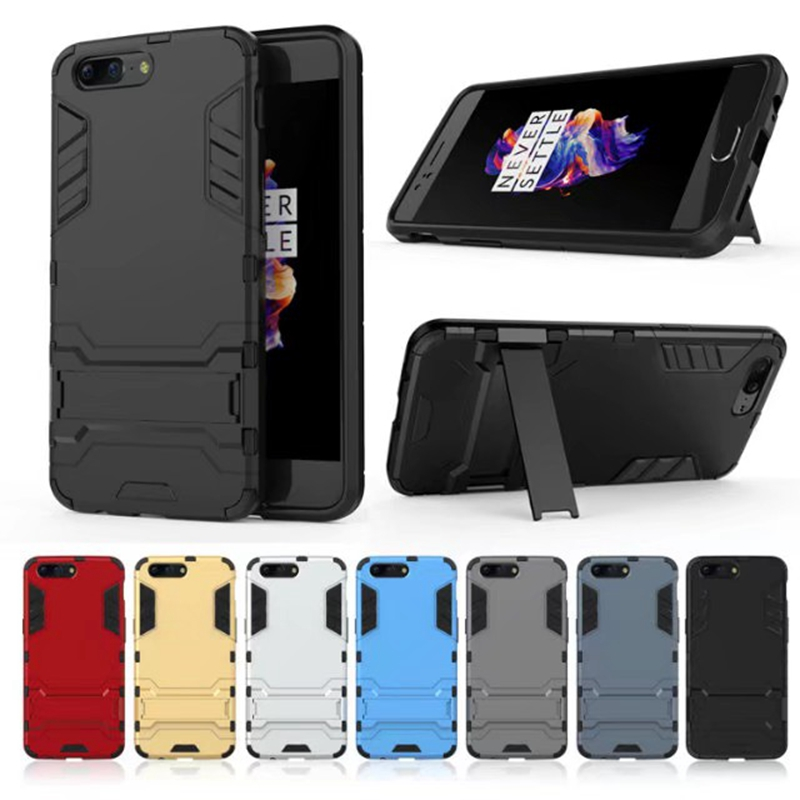 Case For Oneplus 5 Luxury Shockproof Armor Rubber Hard PC Cover Anti-Fall Soft Edge Full Back