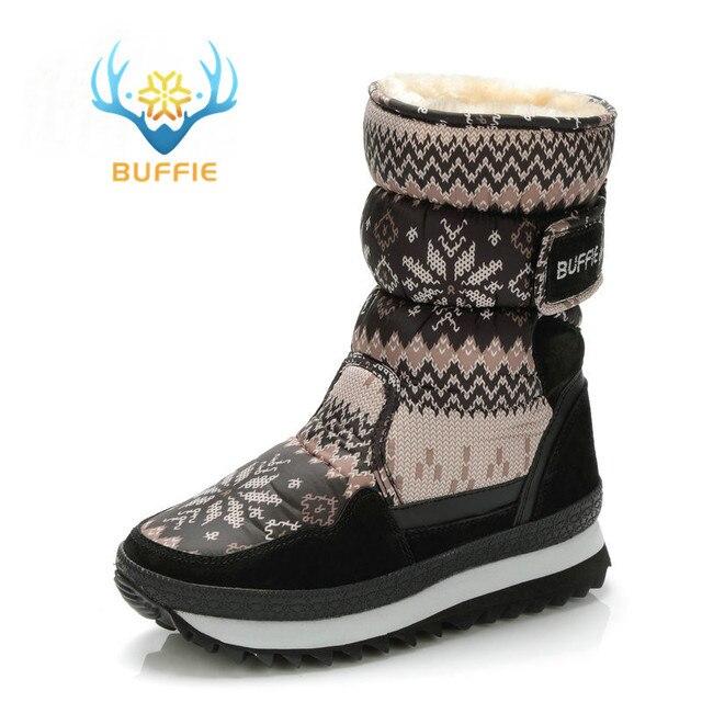 de1508cb092472 Buffie Hiver Femmes bottes gris couleur neige boot chaud en peluche de  fourrure grande taille complète