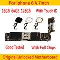 100% Original entsperrt für iphone 6 Motherboard Mit Touch ID/ohne Touch ID  für iphone 6 Logic boards 16gb / 64gb / 128gb-in Handy-Antennen aus Handys & Telekommunikation bei
