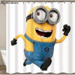 Image 5 - Cortinas para banheiro amarelas, cortinas de banho amarelas de poliéster à prova dágua, cortina ou tapete
