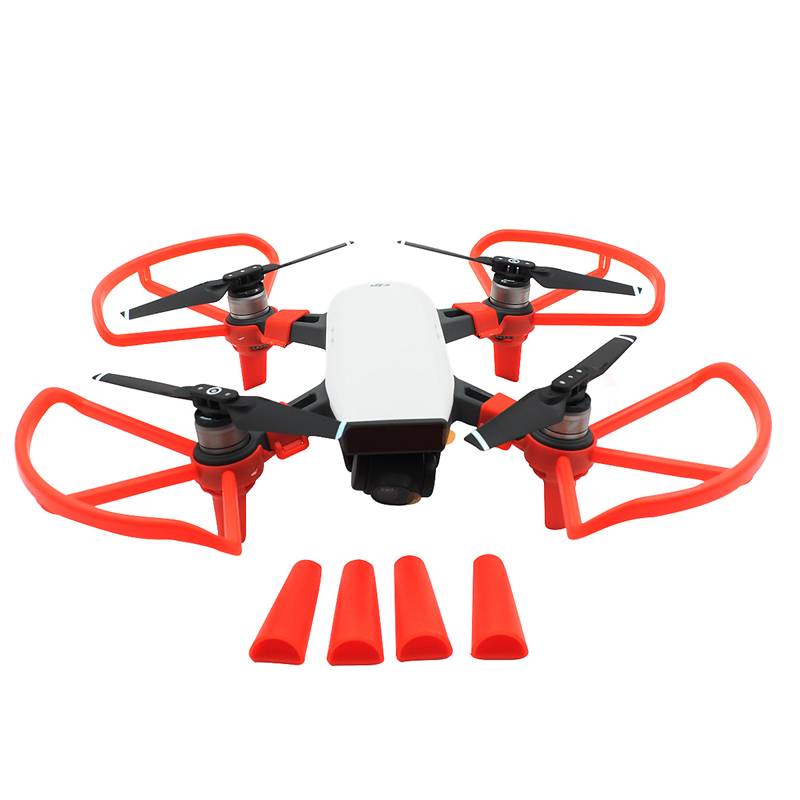 1set Protection Combo For DJI SPARK Propeller Guard Props Ring + Extended Landing Gear Damper Protective Leg For DJI SPARK Drone