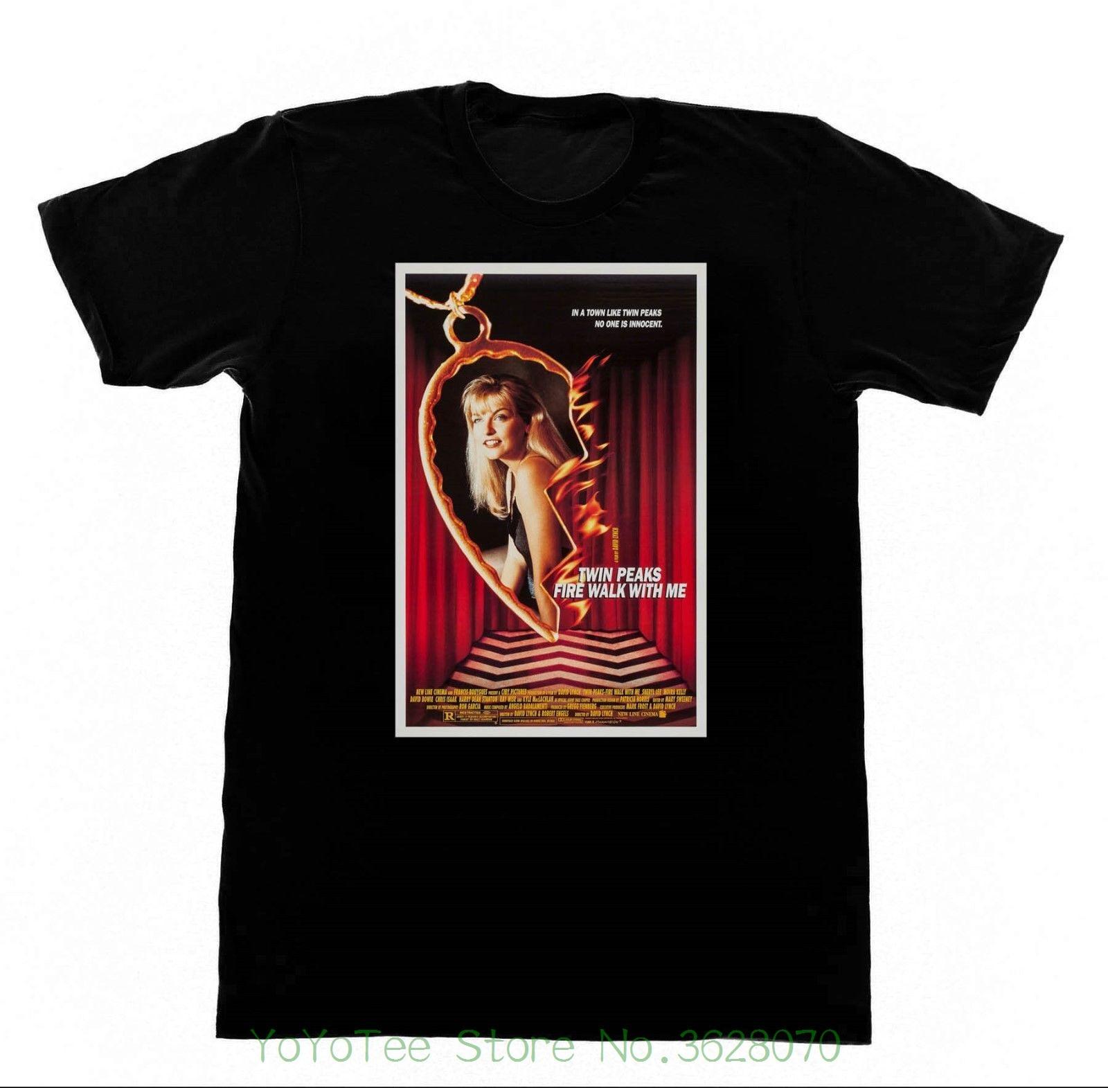 Man Fashion Round Collar T Shirt Twin Peaks Fire Walk With Me - Shirt 202 Tshirt David Lynch Eraserhead