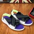 2016 nueva moda Y3 Sandalias Pu del amortiguador de aire hombres Mans Casual , calzado gladiador Sandalias de los zapatos Sandalias Hombre Chaussure Homme