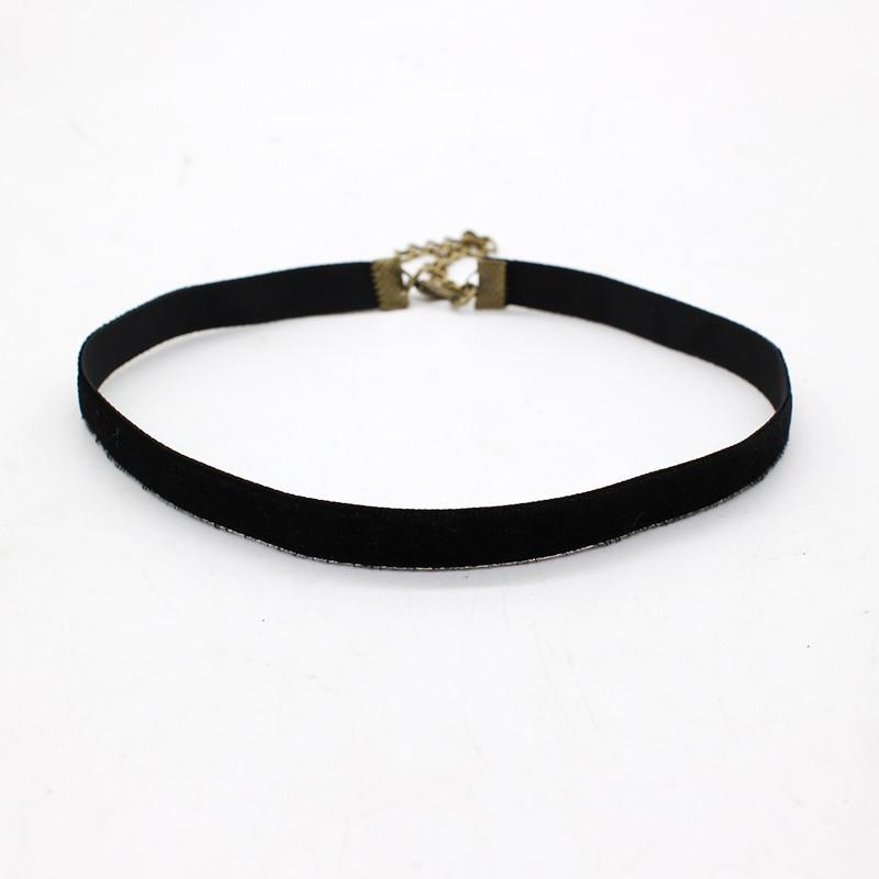 Collier ras du cou en velours noir simple à la mode, ruban simple, gothique, ronde, Burlesque en corde, chaîne rétro pour femmes, bijoux