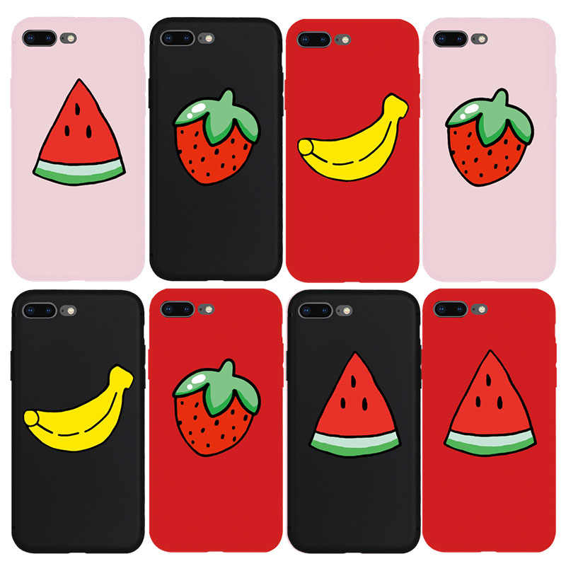 save off 05965 0101c Cute Fruit Watermelon Strawberry Banana Soft Case for iPhone 7 7Plus 8  8Plus X Xs Max XR XS 6 6s Plus 5s SE Phone Cover Cases