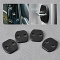 4pcs Car Black Door Striker Cover Lock Protector for Nissan Tiida Qashqai X-Trail Murano 2008 2009 2010 2011 2012 2013+ Infiniti