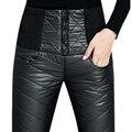 Pantalones de las mujeres 2017 De Invierno Formales Pantalones calientes Delgados de Cintura Alta Ropa Exterior grueso pantalón Pantalones Abajo de las mujeres Para las mujeres femme