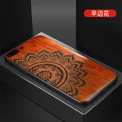 2019 New For iPhone 8 Case iPhone 8 Plus Slim Wood Back Cover TPU Bumper Case For iPhone 7 Phone Cases 7 Plus 3