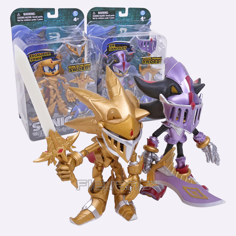 Sonic the Hedgehog Toys Sonic and the Black Knight Excalibur Sonic / Sir Lancelot PVC Action Figure Collectible Model Toy