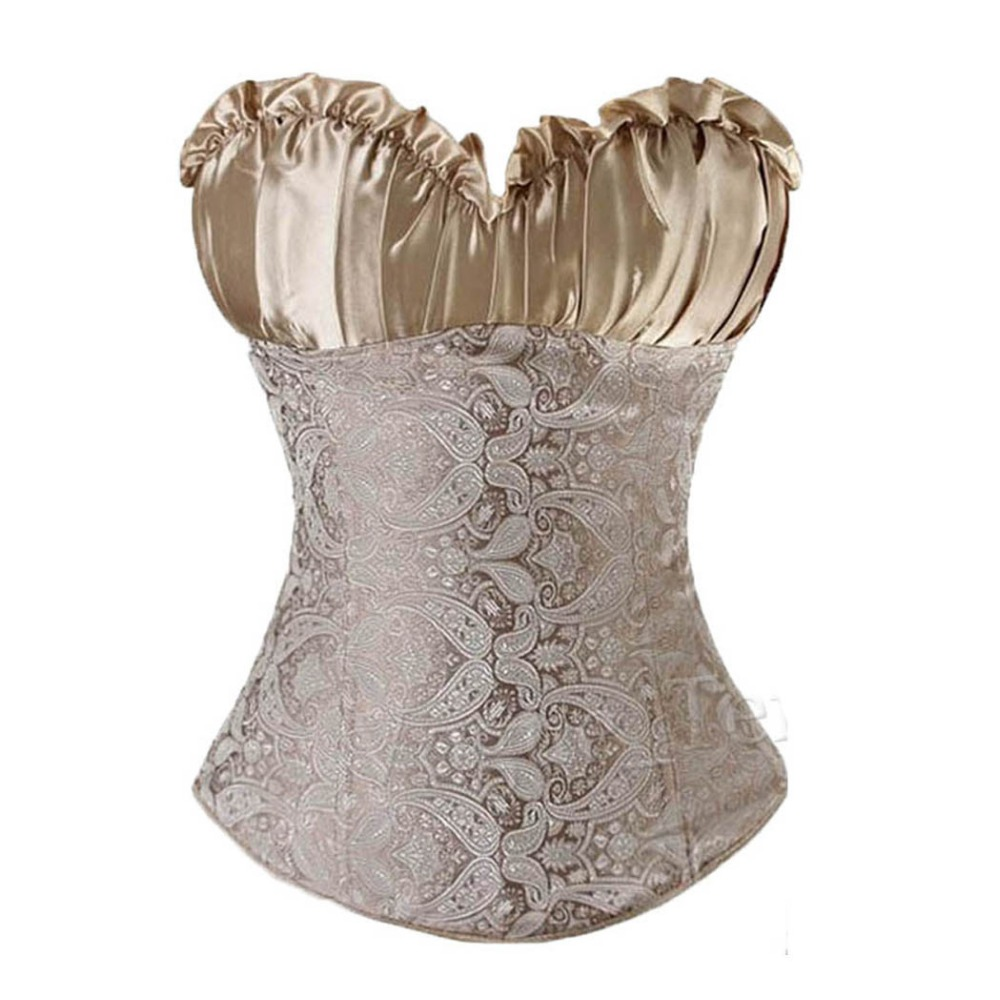 335a8c205f05d Women s Sexy Embroidery Slimming Corset Lace Up Waist Trainer Corset And  Bustier Top Side Zipper Overbust Corselet Outwear TYQ-in Bustiers   Corsets  from ...