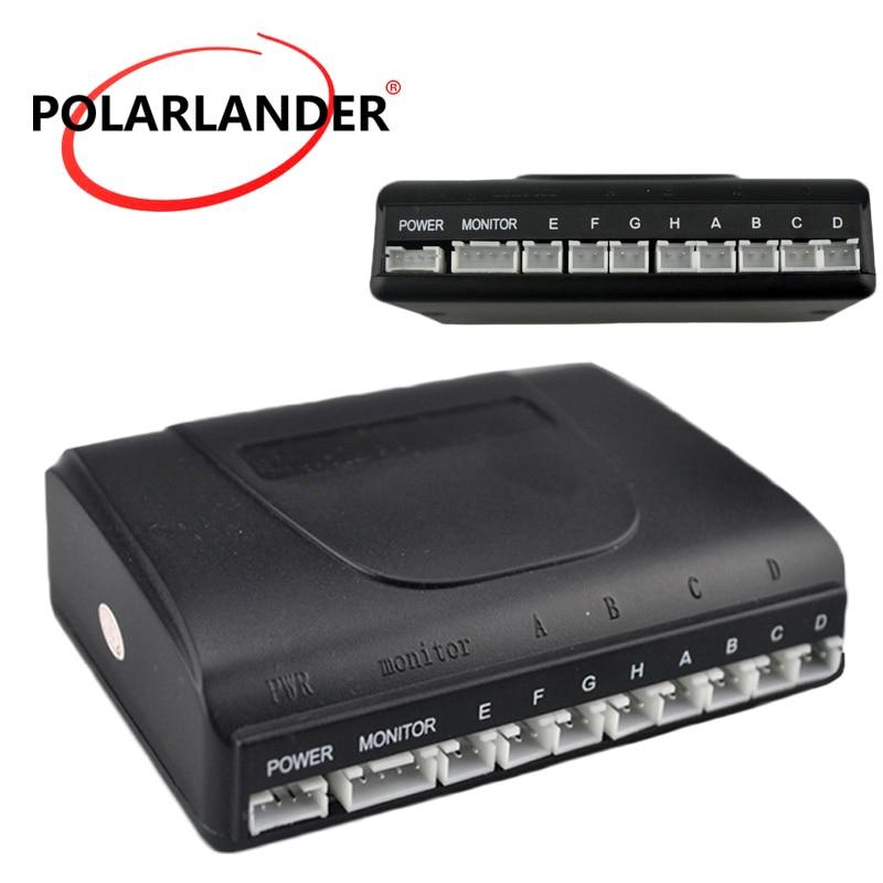 High Quality Best Selling 6/8 Sensors Main Box 12V Car Detector Parking Sensor Kit Reverse Assistance Backup Radar System