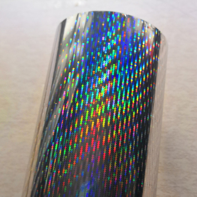 Hot stamping foil  holographic foil silver color B08 meteor design hot press on paper or plastic  heat stamping film