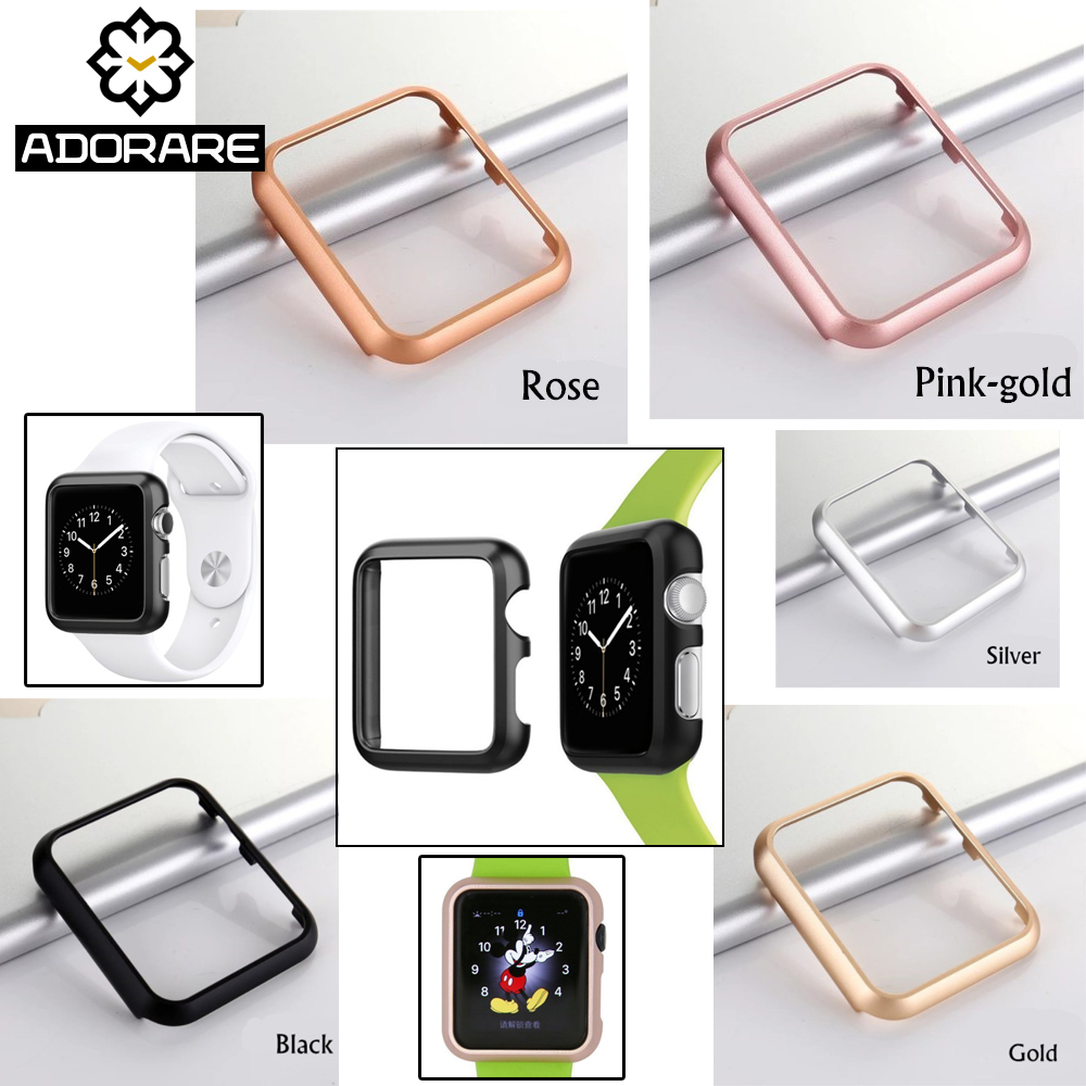 Aluminum Metal Alloy Case For Apple Watch 4 38mm 42mm High Quality Protector Cover Frame For iwatch Series 1/2/3 Accessories sport loop for apple watch band case 42mm 38mm nylon watch strap bracelet with metal frame protector case cover for iwatch 3 2 1