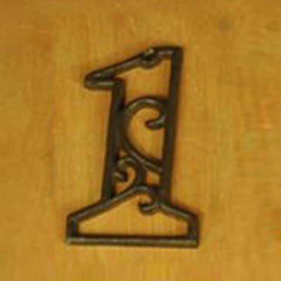 Cast Iron Heavy Duty Metal House Numbers Home Street Address Numbers Signs Antique Brown Finish