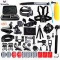 50-em-1 sports action camera kit acessórios para gopro hero 5 5S 3 3 + 4 GS24 SJ5000 Impermeável Câmera de Vídeo com Estojo de transporte