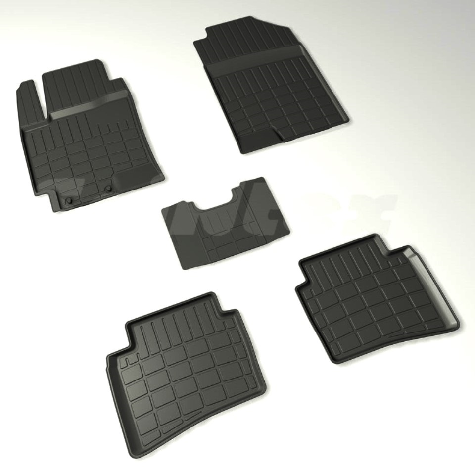 For Hyundai Solaris 2017-2019 rubber floor mats into saloon 5 pcs/set Seintex 88424 standart for opel astra j 2009 2017 rubber floor mats into saloon 5 pcs set seintex 01443