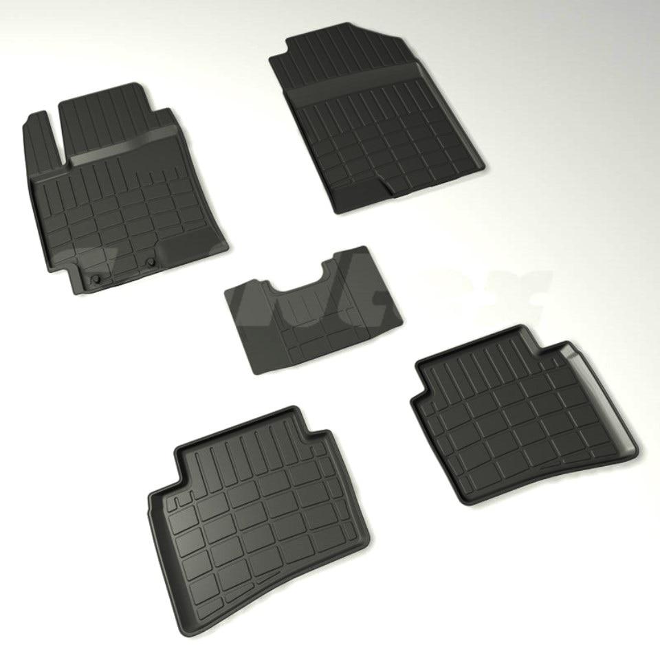 For Hyundai Solaris II 2017-2019 rubber floor mats into saloon 5 pcs/set Seintex 88424 standart for hyundai solaris 2011 2016 rubber grid floor mats into saloon 5 pcs set seintex 83112