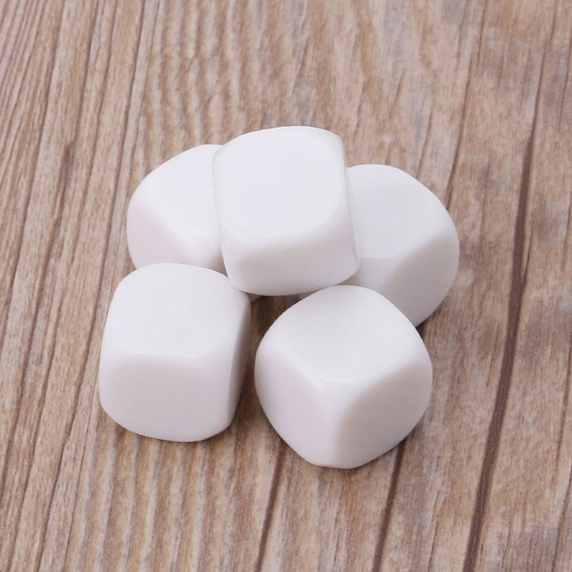 US $1 01 13% OFF|5pcs 20mm White Blank Acrylic Dice Kid DIY Write Painting  Graffiti Family Games -in Dice from Sports & Entertainment on
