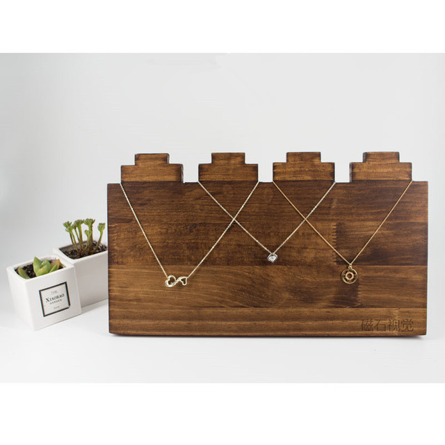 Solid Wood Necklace Chain Display Holder Jewelry Display Holder Pendant Display Rack Old Made Wood Chain Stand