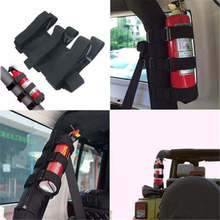 Black Roll Bar Fire Extinguisher Holder Car Styling For Jeep Wrangler TJ YJ JK CJ  Adjustable Roll Bar Fire Extinguisher Holder fire extinguisher shaped land line telephone