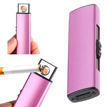 Cigarette Cigar Lighter Rechargeable USB Charging Windproof Flameless No Gas-m18
