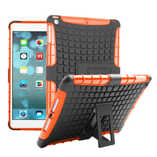 Tyre Style Duty Armor TPU+PC Tablet Cases For Apple Ipad Air 1 / iPad 5 /iPad Air1 /iPad5 9.7inch Cases Covers With Kickstand