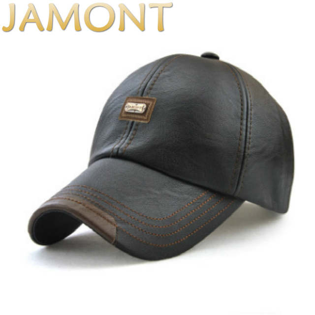 82bbb5acc81 JAMONT Casual Men Blank PU Winter Baseball Cap Hip Hop Adjustable Autumn Male  Leather Snapback Hat. placeholder ...
