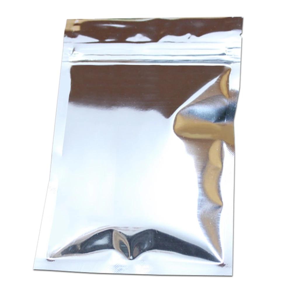 100pcslot Matte White Foil Zip Lock Packaging Bags 10*15cm Retail Heat Sealable Candy Nuts Storage Zipper Mylar Pouches  10x15cm