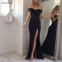 2018 Summer Dress Elegant Bohemian Women Evening Sexy Maxi Formal Party Dresses Strapless Solid Spring Girl