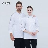 VIAOLI Chef service Hotel working wear Restaurant work clothes Tooling uniform cook Tops Kitchen Cook Chef