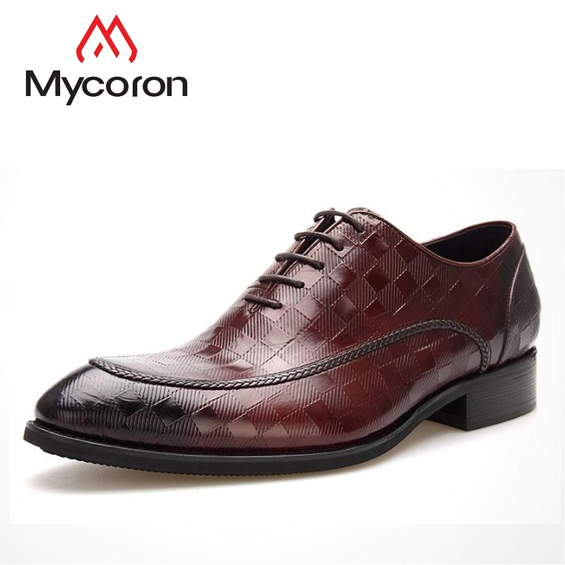Couro Top Sapatos Vestido Botas Negócios Preto Lace Homens Designers Formal Hommes Chaussures Luxo Mycoron up Dos En Sapatas Cuir red De Fpnwd0x