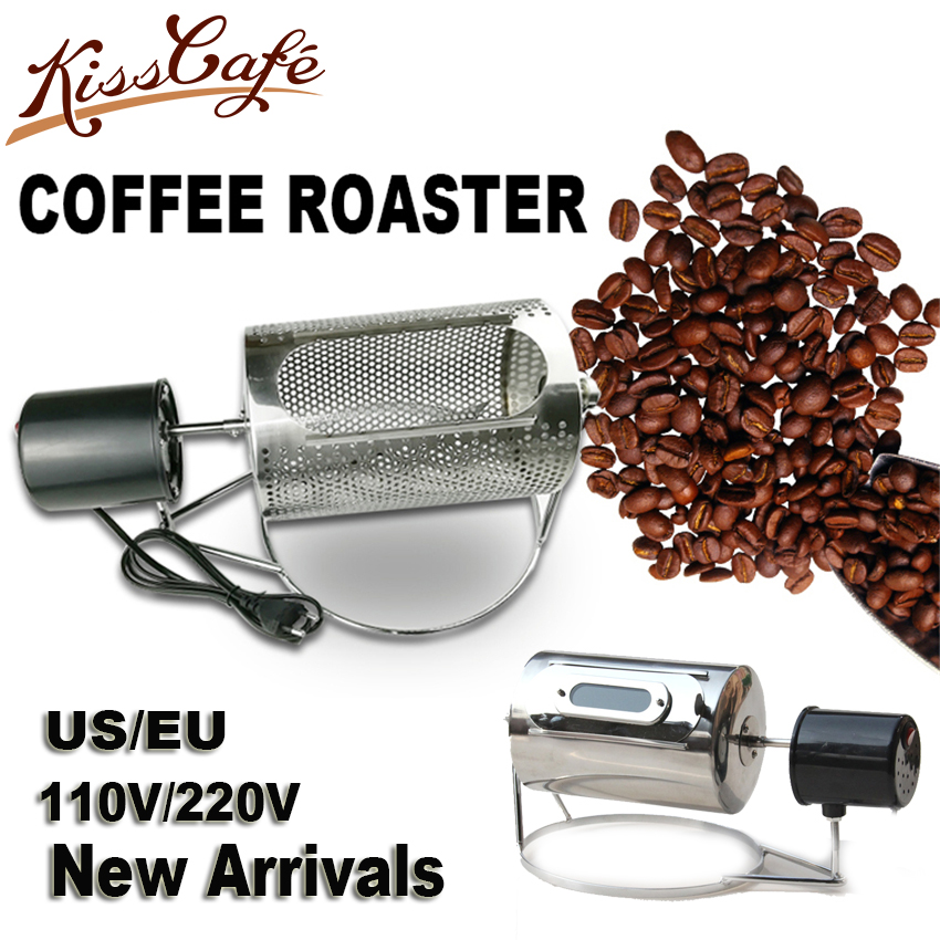 Household Electric Coffee Roaster Bean Roasting Machine Stainless Steel Nuts Baking