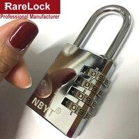 LHX Stainless Steel Padlock Door Cabinet Box Game Luggage Fitness Center Locks Code Combination Digital Password
