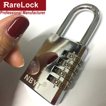 LHX Stainless Steel Padlock Door Cabinet Box Game Luggage Fitness Center Locks Code Combination Digital Password Lock a